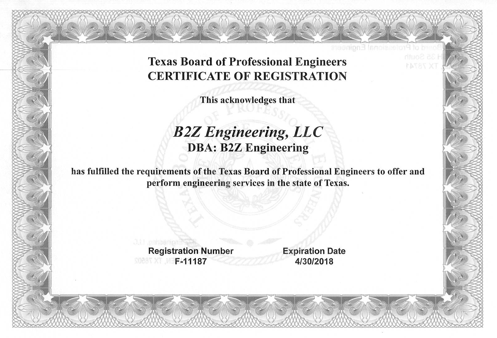 About b2z engineering llc b2z engineering certifications 1betcityfo Choice Image